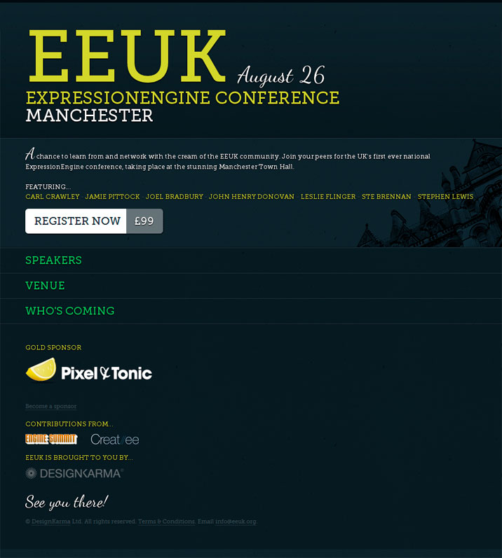 EEUK: 1st EE Conference in UK! (8/26)