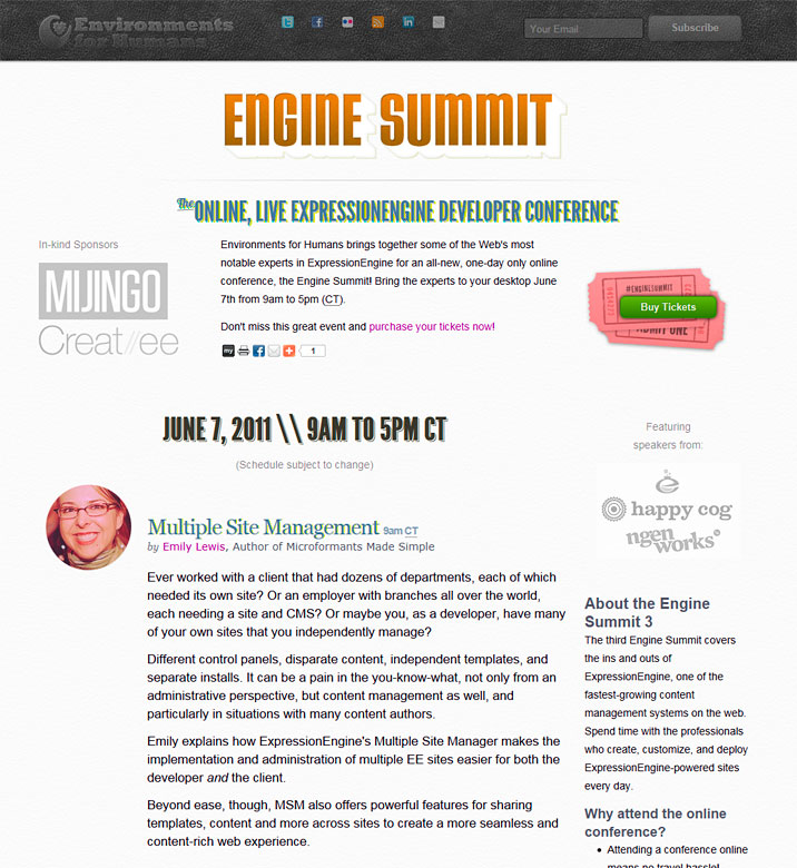 Don't miss EngineSummit 3, happening on June 7th!