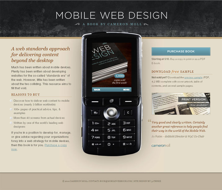 Mobile Web Design: A Book by Cameron Moll