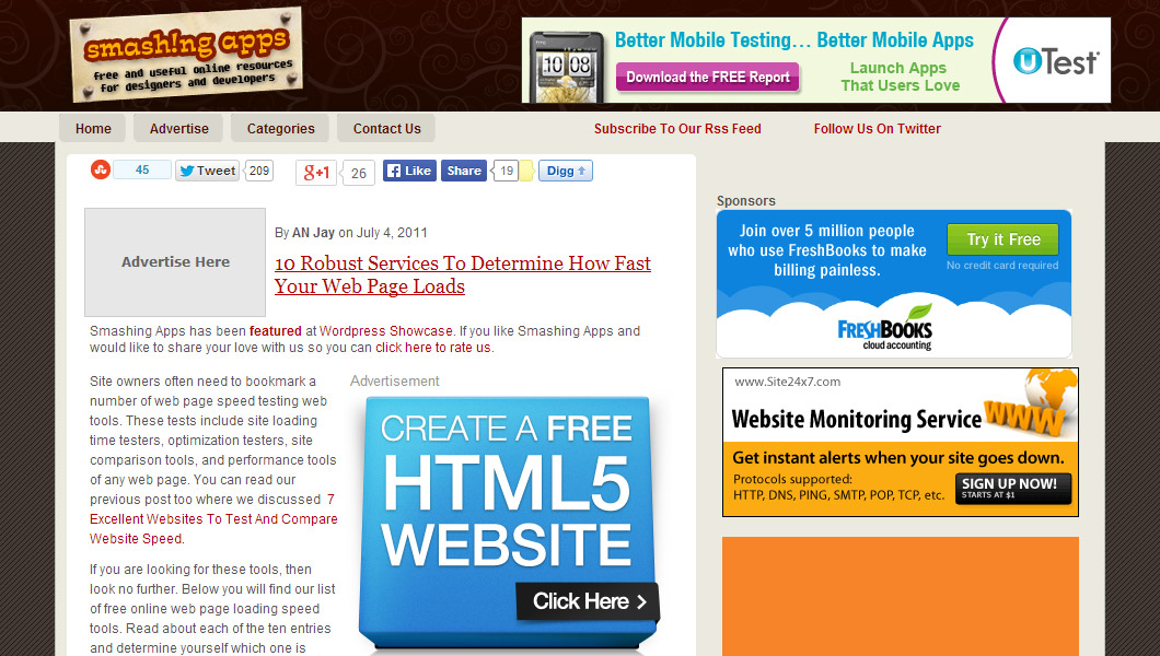 10 tools to determine your page speed